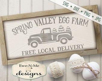 Easter SVG - Easter Egg svg - Egg Truck SVG - Spring Valley svg - easter egg svg - easter delivery svg - Commercial Use svg, dxf, png, jpg