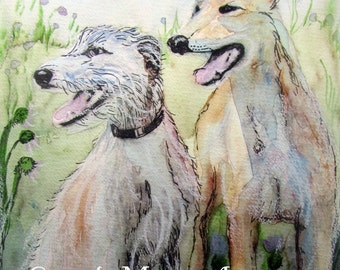 Lurcher print contemporary wall art home decor dog drawing painting dog lover gift gift for mom mum sister gift for him dad brother son