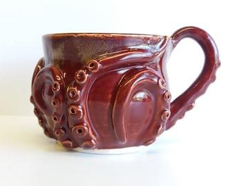 red-brown otcomug, the octopus mug!