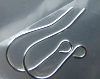 Argentium Sterling silver 935 ear wires, Sterling silver ear wires, ear wires, Argentium ear wires
