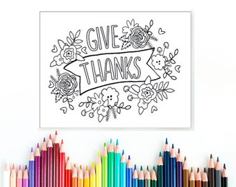 Give Thanks Coloring Page Psalm 1361 Printable Coloring