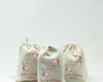 "4""x6"" Wedding Party Favor, Muslin Bags, Custom Muslin Bags, Party Favors, Bachelor Party, Bachelorette Party, Personal Bags --64546-MB04-610"