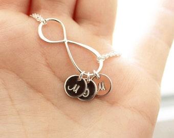 Personalized Infinity Bracelet, Mother's Bracelet, Infinity Bracelet, Sterling Silver, Infinity Initial Bracelet, Gift for Her, Gift for Mom
