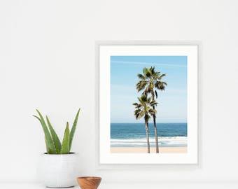 "Palm Tree Wall Art, Photography, Ocean, Beach Art, Coastal Decor, Vertical Print, Beach Decor, Beach Photography, ""Ocean Palms"""
