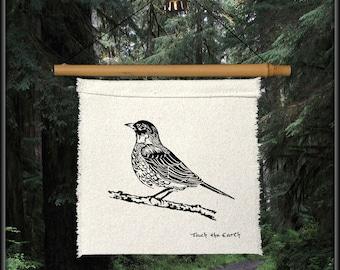 robin redbreast-spring bird-bird decor-bird gift-robin prayer flag-bird prayer flag-garden bird-spring decor-red robin-bird lover gift-robin