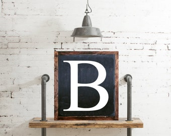 Personalized Capital Letter Sign Anniversary Gift Wedding Monogram Sign Housewarming Gift Wall Decor Wall Hanging