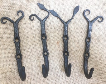 Hand forged branch hooks