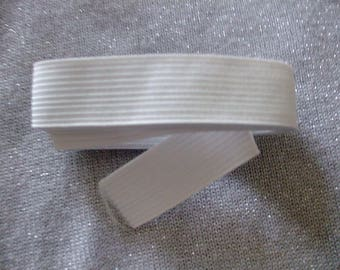 X 1.5 meter white ribbed elastic 2 cm wide