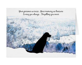 Black Lab Dog Sympathy Card 03TELMF - Pet Loss - Dog Condolence Cards - Dog Loss Card - Sympathy Quote - Sympathy Card - Condolence Card