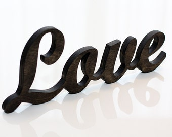 Wooden Love sign, Wedding sign, Love letters, Wooden letters, Valentine's Day gift, Wood Love, Wooden Love, Valentine's sign, Rustic Love