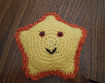 New HANDMADE Crocheted Yellow and Orange Star Fish