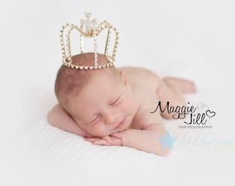 Prince crown, gold crown, boy crown, crown for boy, baby boy crown, first birthday crown, baby crown, baby tiara, infant tiara, infant crown