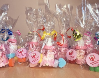 Baby bottle favours with 4x scented soaps