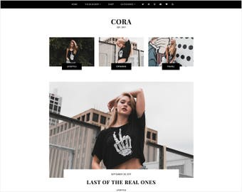 Cora | Responsive Blogger Template + Free Installation