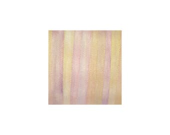 100% Pure Silk Ribbon 4mm Pink Embroidery Hand Dyed Dawn 3mtr