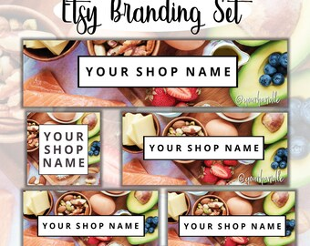 Small Business Branding Kit - Custom Cover Photo, Profile Image, Shop Icon, Listing Image, Facebook Cover Photo, Youtube Banner, Group Cover