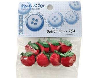 Dress it Up Button Fun Apples Novelty Buttons Jesse James Theme Pack