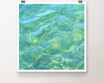 "KunstDruck ""SommerFreude"" - Natur See Meer Ozean Strand Wasser vintage Foto Fotografie"