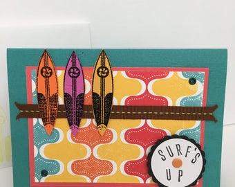 Surf's Up handmade birthday card
