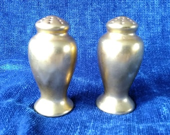 Gold China Salt and Pepper Shakers Gold Glaze Sat and Pepper Shakers