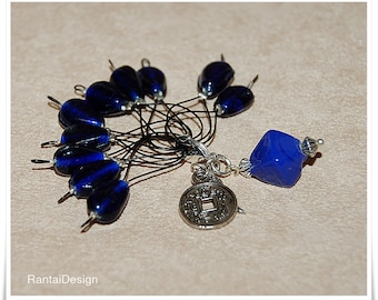 Stitch markers for knitting ceramic beads