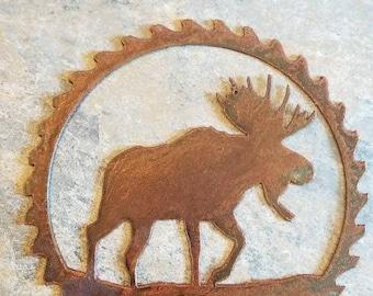 Rusted elk sawblade