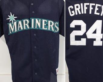 Vintage Seattle Mariners Ken Griffey Jr Jersey L