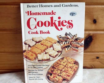 1975 Homemade Cookies Cook Book, Better Homes and Gardens Vintage Baking Cookbook