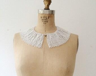 vintage collar necklace / beaded bib necklace / Fiorina necklace