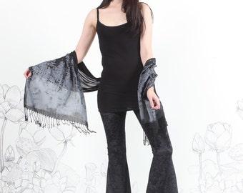 final few Black Velvet Bell Bottoms- crushed Velvet - highwaisted bell bottom by carousel ink womens pants bottom
