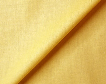 Fabric yellow 100% cotton Poplin (in multiples of 20cm)