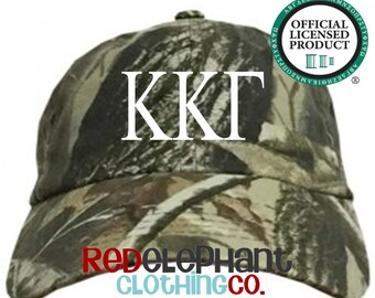 Kappa Kappa Gamma Hat, Monogrammed Camo Hat, Monogram Baseball Cap, Monogram Camouflage Hat, Personalized Baseball Hat, Sorority Gift, ΚΚΓ
