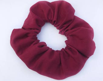 Cranberry Hair Scrunchie, Burgundy Scrunchie, Hair Elastic, Hair Tie, Hair Accessory, Soft Elastic, Bun Wrap, Ponytail Holder