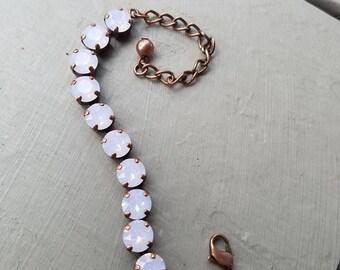Rose Water Opal Swarovski Bracelet