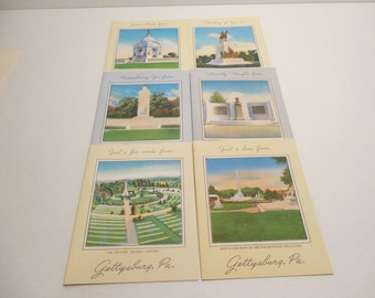 Gettysburg Scenes for Correspondence Notes Assorted Designs with Envelopes