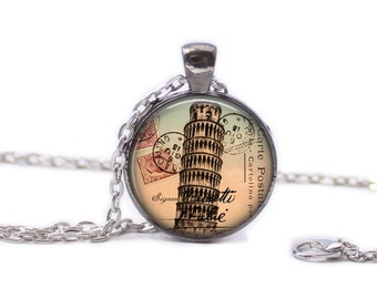 Italy Necklace Italy Jewlery Travel Necklace Wearable Art Pendant