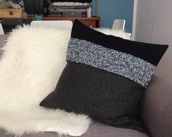 Wool and crochet cushion