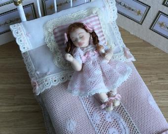 1:12 scale miniature porcelain doll  , children 1/12 scale dollhouse porcelain doll, dolls for dollhouses
