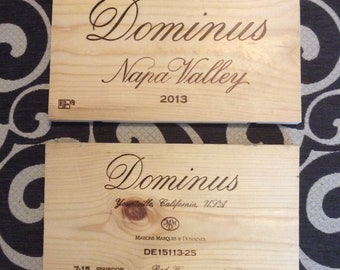 Free shipping* Dominus Napa Valley wine panel pairing- set of 2