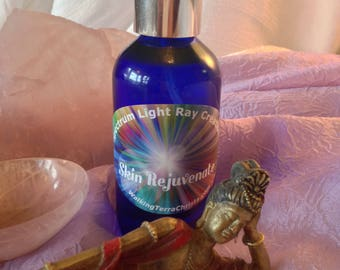SKIN REJUVENATE Healing Spray, Crystal Infused High Vibrational Spray with Essential Oils, Meditation, Mt. Shasta