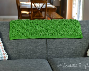 Crochet Pattern: Hourglass Cabled Afghan **Permission to Sell Finished Items INSTANT DOWNLOAD