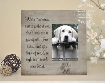 Pet sympathy gift, pet loss frame, dog memorial, cat memorial, Personalized pet loss gift, Memorial for dog, dog passing gift