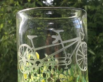 CUSTOM: Hand blown tandem bike glasses