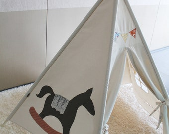 SOABE rocking horse indian tent, teepee tent, teepee, play tent