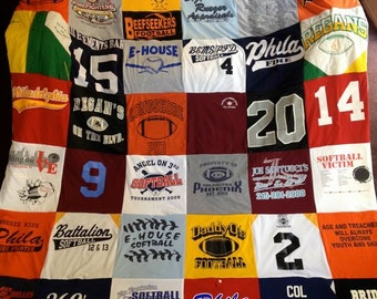T-Shirt Memory Blanket Made to Order Custom Unlimited Items and Size
