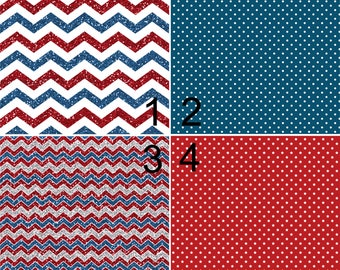 Printed Vinyl, 4th July America, Pattern Vinyl, Heat Transfer Vinyl, Adhesive Vinyl, HTV, Iron On, Design Vinyl, Fourth July, Stars, Chevron