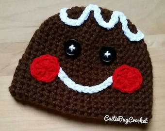Crochet Gingerbread Hat