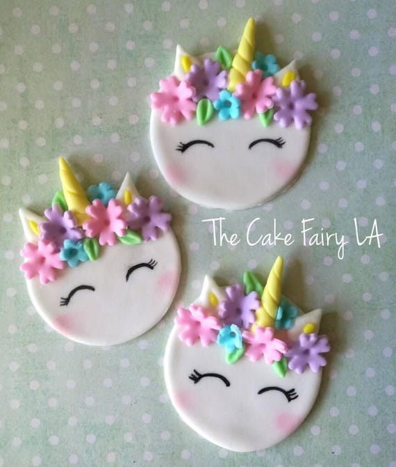 Unicorn Fondant Cupcake Topper