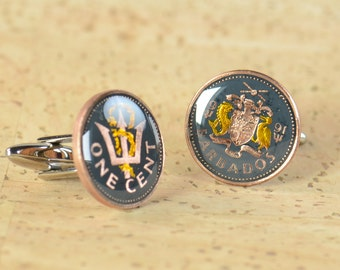 Cufflinks  Coin from Barbados