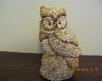 Vintage shell owl figurine used